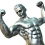 Mens health  muscles  statue  silver  man  muscular  strong
