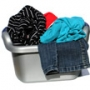 Washing laundry dirty clothes